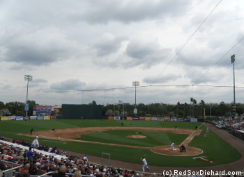 The weather at Hammond Stadium was more suited for Target Field or Fenway Park than southwest Florida.