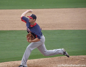 Top prospect Allen Webster pitched three innings.