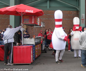 It's not truly Opening Day until you've high-fived a bowling pin.
