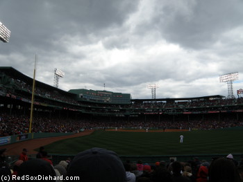 It was a cold afternoon at Fenway, but with a special pitching performance going on there was no way I was leaving my seat.