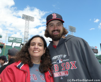 I stood on my tippy-toes while taking a picture with Andrew Miller. It didn't help.