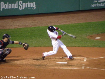Dustin Pedroia reached base 3 times and drove in a run.