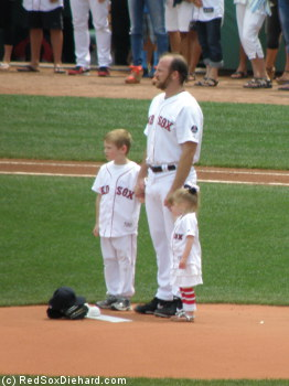 Ryan Dempster was joined on the mound before the game by his son Brady and his youngest daughter Finley. He gave up 2 runs in 5-1/3 innings of work.