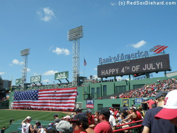 Happy 4th of July from Fenway Park!