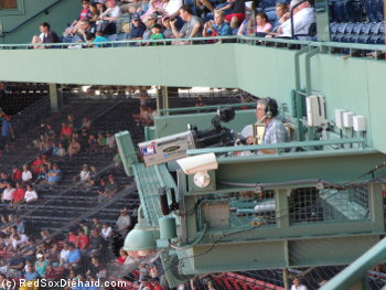 A look at the camera guy perched above home plate.