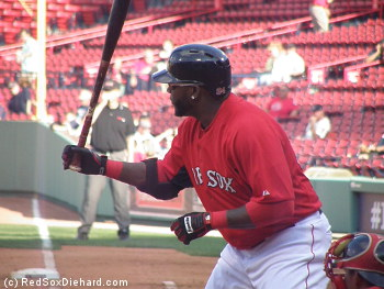 Big Papi normally can't wear bling in a game. But he could today!
