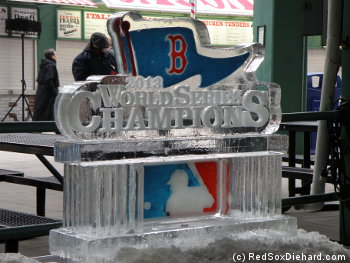 There was no danger of this ice sculpture melting!