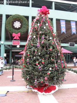 The Red Sox had decked the halls - and the Big Concourse - for the holidays.