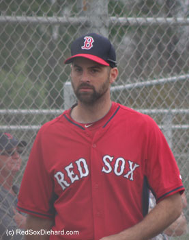 Reliever Burke Badenhop was acquired from the Brewers during the off-season, and he figures to play a role in the Red Sox bullpen this year.