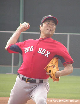 Koji Uehara threw too, but I'll admit I didn't pay much attention to how he did because I was focusing on Pedro.