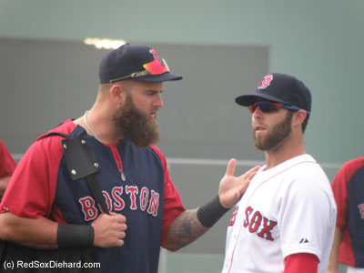 Mike Napoli and Dustin Pedroia are already (beard-wise) in mid-season form.