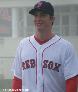 I'm intrigued by some of the young pitchers the Sox have in camp. I saw Matt Barnes throw live B.P. to David Ortiz and Mike Carp today, and I look forward to seeing Henry Owens (pictured here) in one of the college games later in the week.