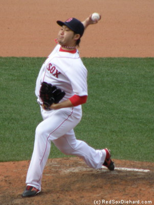 Junichi Tazawa threw a 1-2-3 eighth inning with two strikeouts.