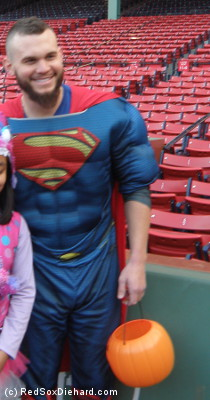 Apparently Drake Britton decided to dress up as Brock Holt for Halloween.