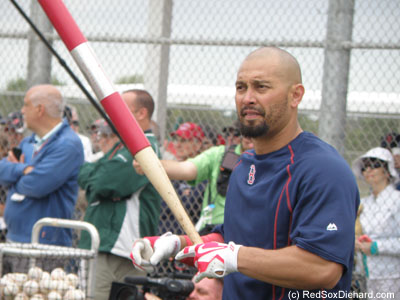 Shane Victorino batted from the left, which was a good sign. Last year his injuries prompted him to stop switch-hitting and bat exclusively from the right. If he can stay healthy this year, then every little thing is gonna be alright.