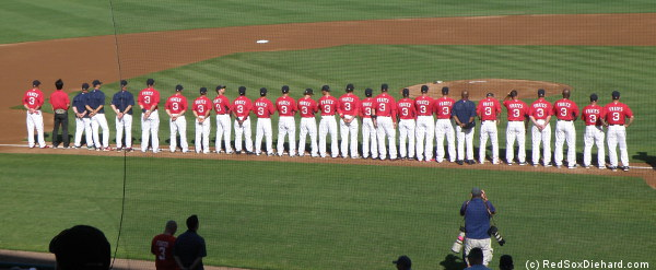 Everyone wore number 3 to honor ALS advocate and B.C. alum Pete Frates.