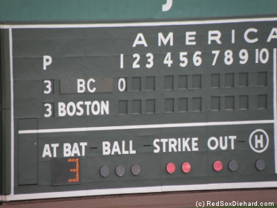 At least it made it easy for the scoreboard operator to show who was picthing and who was at-bat.