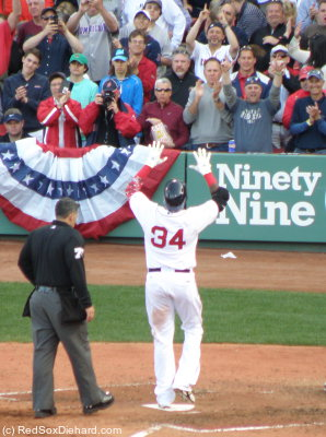 Not to be outdone, Big Papi launched a homer of his own in the sixth inning.