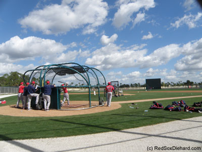 It was a beautiful day for some batting practice.