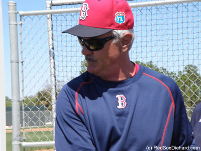 Dwight Evans was my favorite player in the 1980's, and is now a special instructor working with the young players. He took the time to sign autographs after practice, as did Jackie Bradley Jr., Xander Bogaerts, infield prospects Deven Marrero and Sam Travis, and third base coach Brian Butterfield.