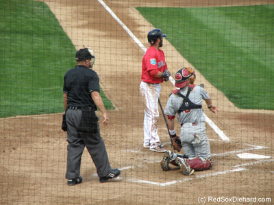 You can tell the baseball season has officially started when Pedey gets his uniform dirty.