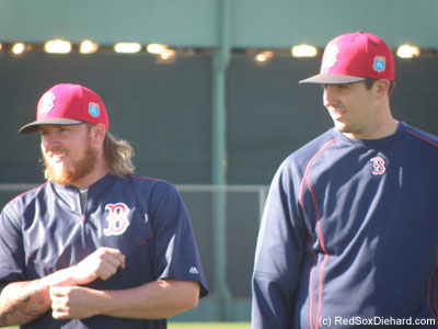 Lefty Robbie Ross Jr. and righty Carson Smith. Smith was acquired this off-season in a trade with the Mariners.