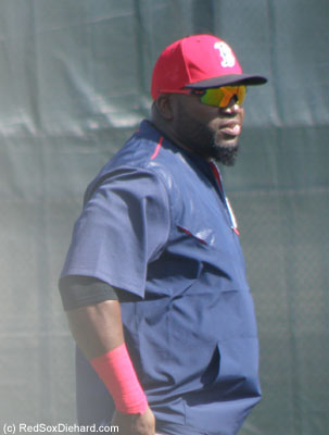 A picture of Big Papi, because this is my last chance to see him in Spring Training action.