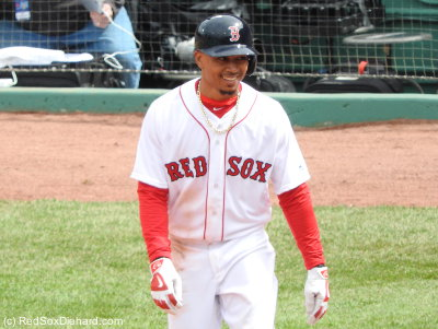 Mookie is required to homer in every road and home opener - he homered in both last year and in the road opener this year - and he did not disappoint, going deep in the ninth inning with his third hit of the day.