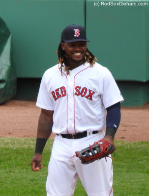 Hanley Ramirez is doing well at first base and looks to be having fun.