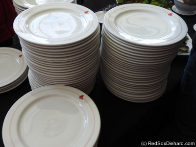 These are the plates we ate on for the buffet. Great china pattern!