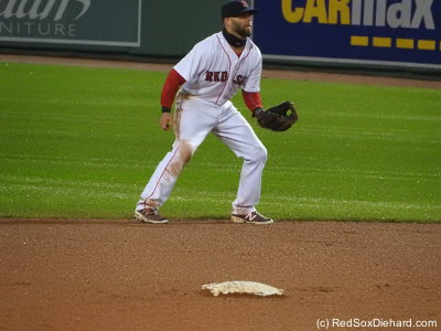 Dustin Pedroia, perpetual dirt dog.