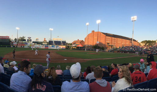 It was a beautiful Maine evening at Hadlock Field.