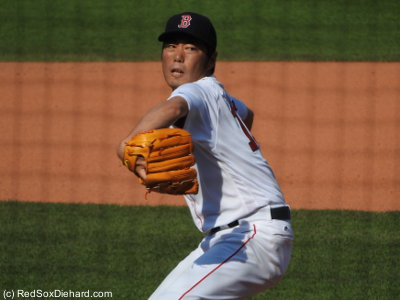 Koji Uehara pitched a scoreless eighth.