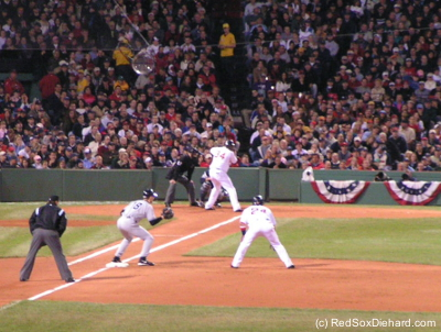 Big Papi at the plate in the '04 ALCS