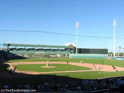 By the time the shadows grew long at JetBlue Park, there was not a cloud to be found in the sky.