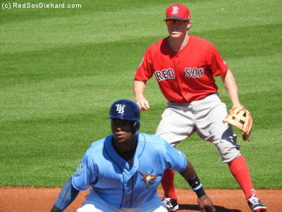Brock Holt manned shortstop and went 1-for-2 at the plate with a single and a hit-by-pitch.