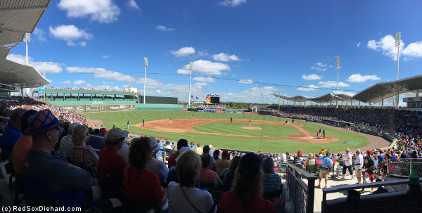 It was a gorgeous sunny day as the game got underway.