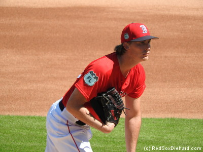 Henry Owens pitched the first few innings.  He gave up 2 runs on 3 hits and a walk, and threw (by my count) 42 pitches.