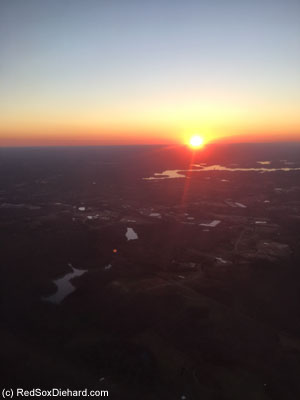 Sunset from 38,000 feet.