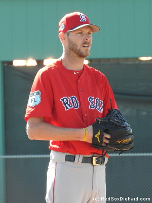 Chris Sale threw live B.P. to Chris Young and Junior Lake.