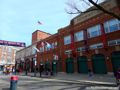 Obligatory shot of the Fenway facade on Opening Day.