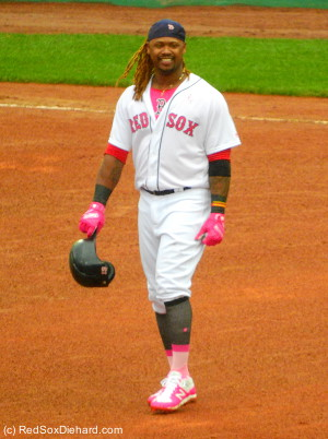 Hanley Ramirez reached on an error in the sixth and singled in the eighth.