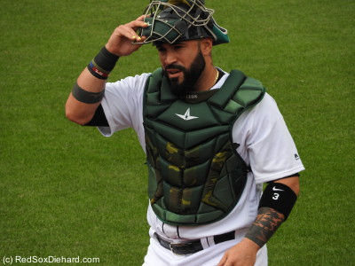 Sandy Leon, along with the rest of the team, wore special uniforms for Memorial Day weekend.