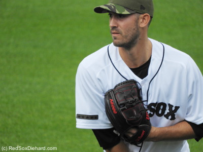 Rick Porcello got the start. He went 6-1/3 innings and gave up two runs.