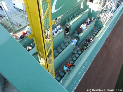 Looking down on the Green Monster.