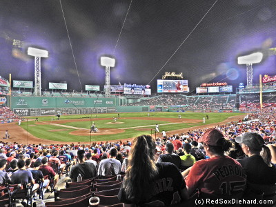 "Fenway Park in ""painting mode."""