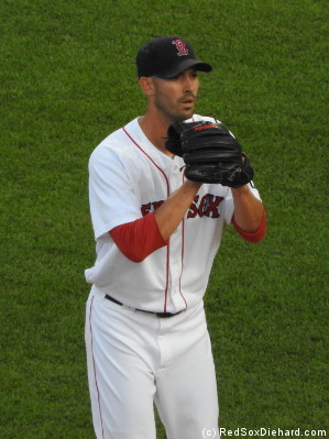 Rick Porcello wasn't at his best, but he got no support from the offense.