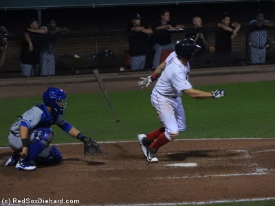Third baseman Mike Olt grounded out to end the game.