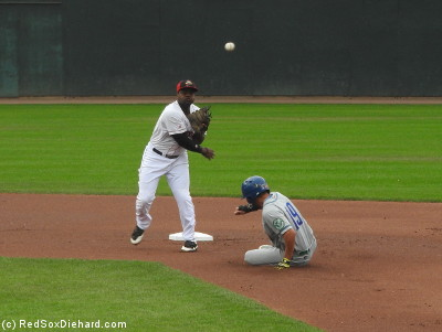 Second baseman Josh Tobias turned a double play in the first inning.